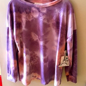 French Pastry Pink & Purple Tie Dye Long Sleeve